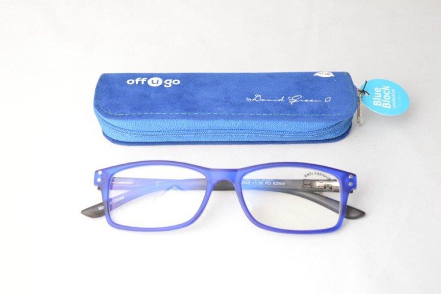 BLUE BLOCK off u go reader 14 Large Size (square)