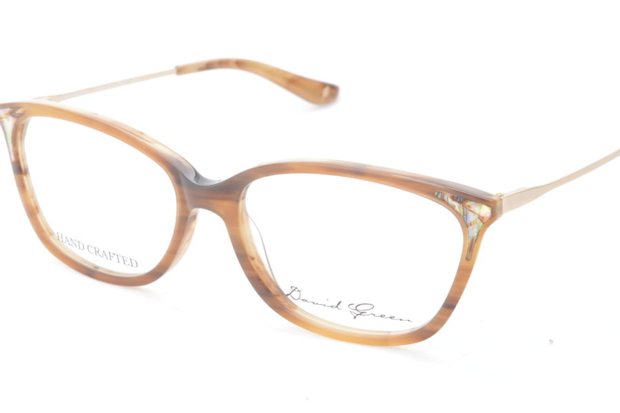 Pennsylvania 53-16-140 Real mother of pearl set into natural cotton based acetate